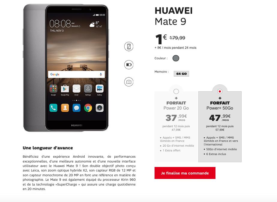 Vente Flash SFR Huawei Mate 9