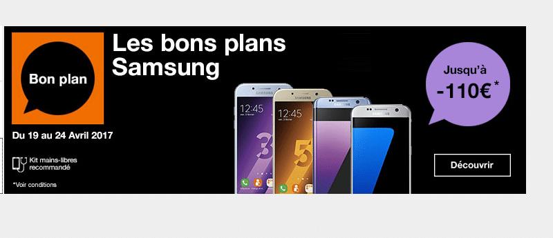 Orange : l'opérateur propose des bonus (remises) sur plusieurs Samsung Galaxy