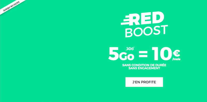 RED by SFR forfait 5 Go 10 euros