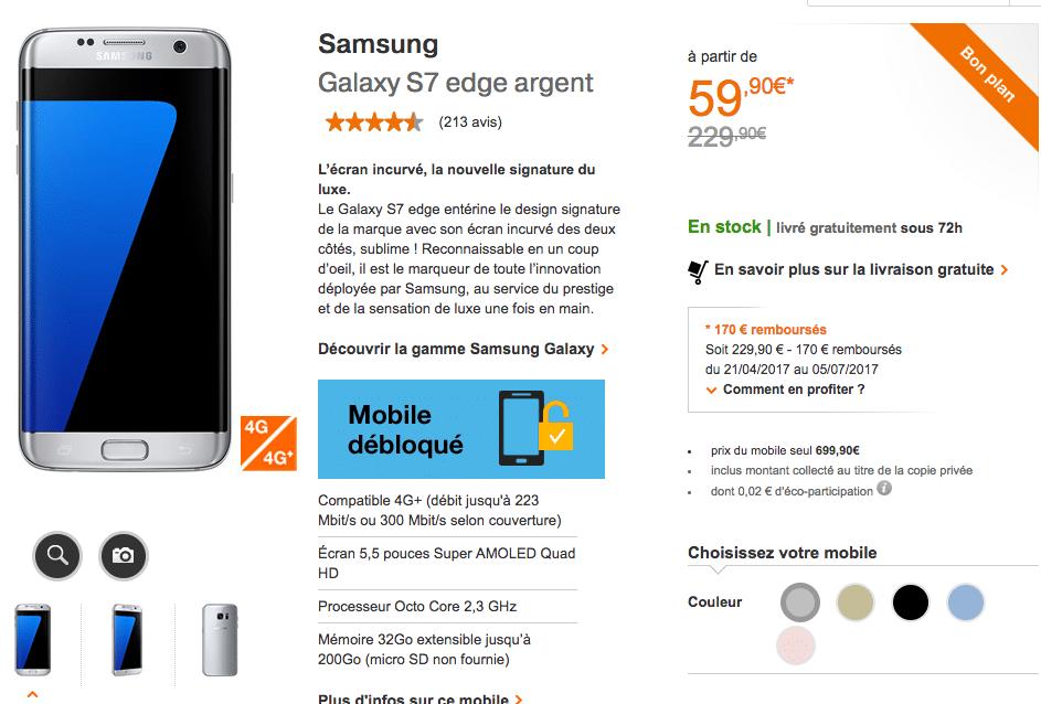 Orange Samsung S7