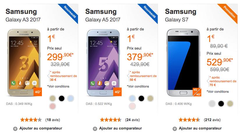 Orange bonus Samsung smartphone