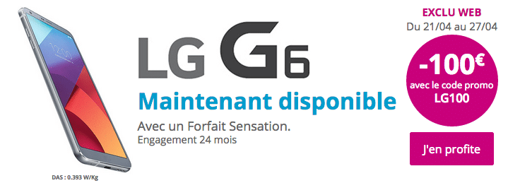 LG G6 Bouygues Télécom