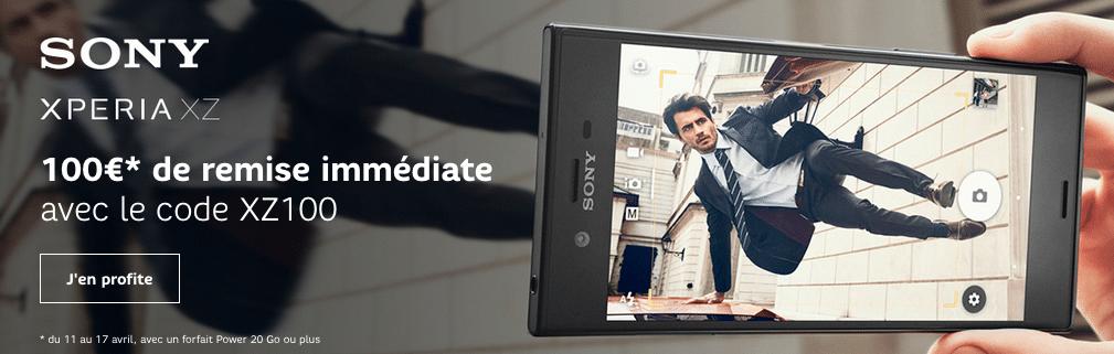 Sony Xperia XZ en promotion chez SFR