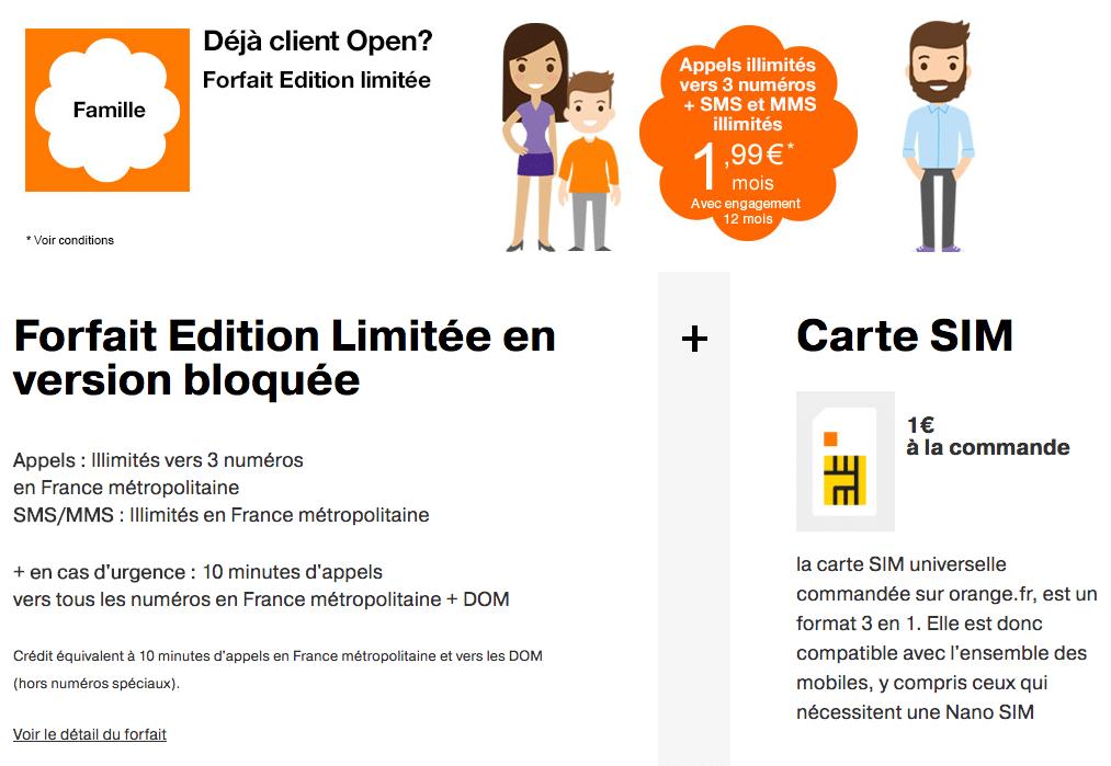 forfait édition limité clients Open