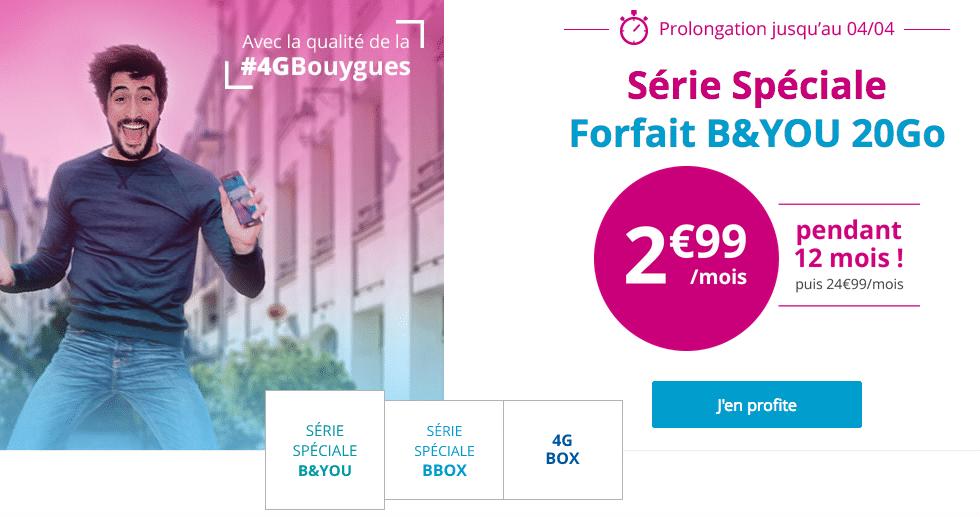 Le forfait 20 Go de B&YOU (Bouygues Télécom)