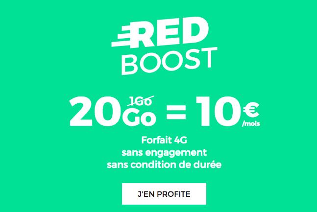 Forfait RED Boost avec 20 Go pour 10€