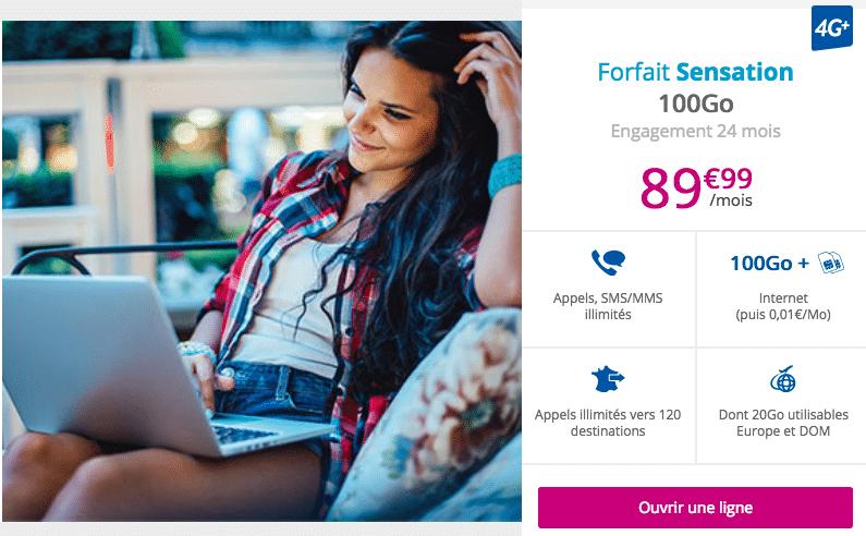 Forfait Sensation 100 Go Bouygues Télécom