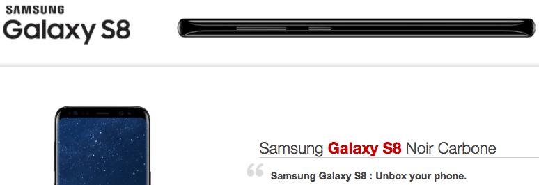 Smartphone samsung s8 chez free