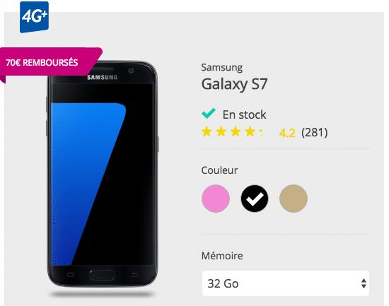 Cumul de promotions sur le Galaxy S7