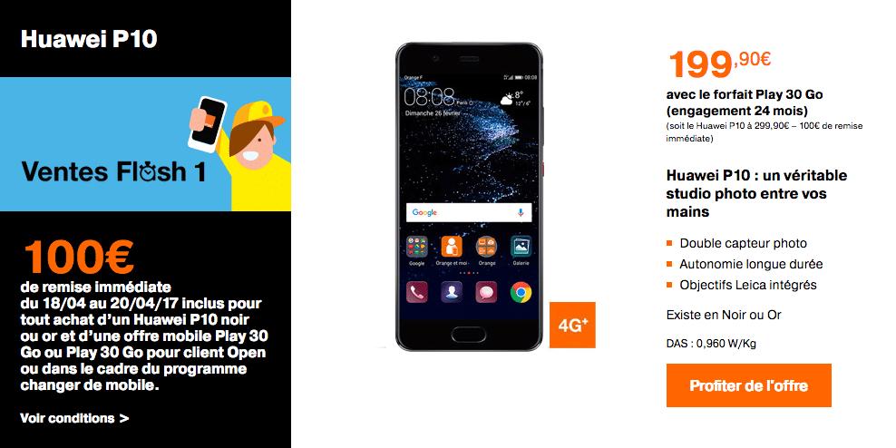 Huawei P10 chez Orange