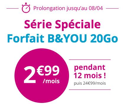 B&You série spéciale à 2,99€