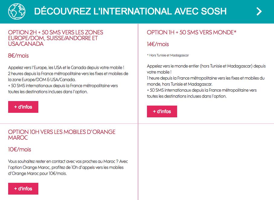 Sosh Maroc international