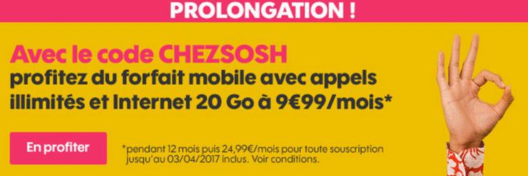 Code promotionnel Sosh pour bénéficier d'une réduction sur le forfait mobile