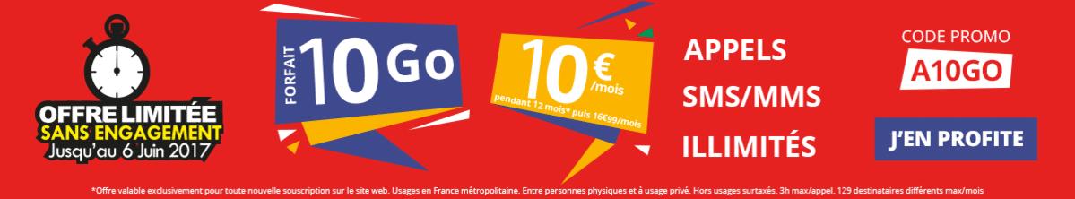 forfait 10 Go Auchan