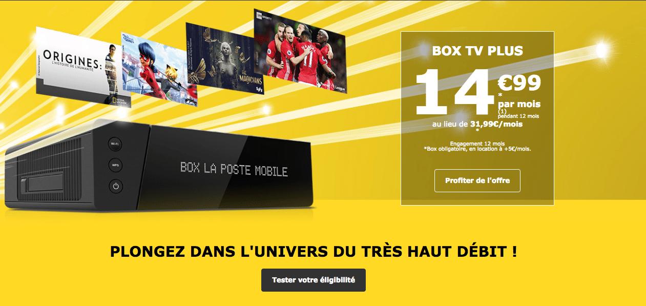 La Poste Mobile Box TV Plus