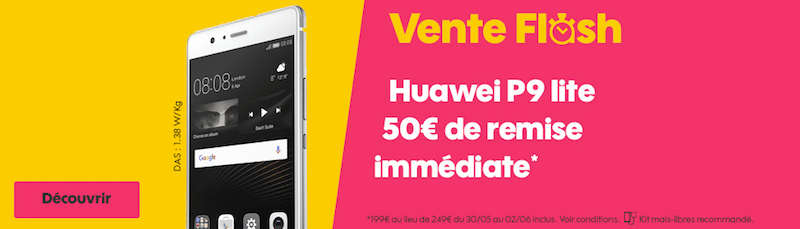 sosh le huawei p9 lite en vente flash moins de 200 euros. Black Bedroom Furniture Sets. Home Design Ideas