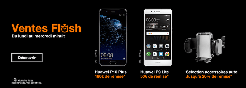 Ventes flash orange jusqu 39 180 de remises sur les smartphones de huawei - Vente flash internet ...