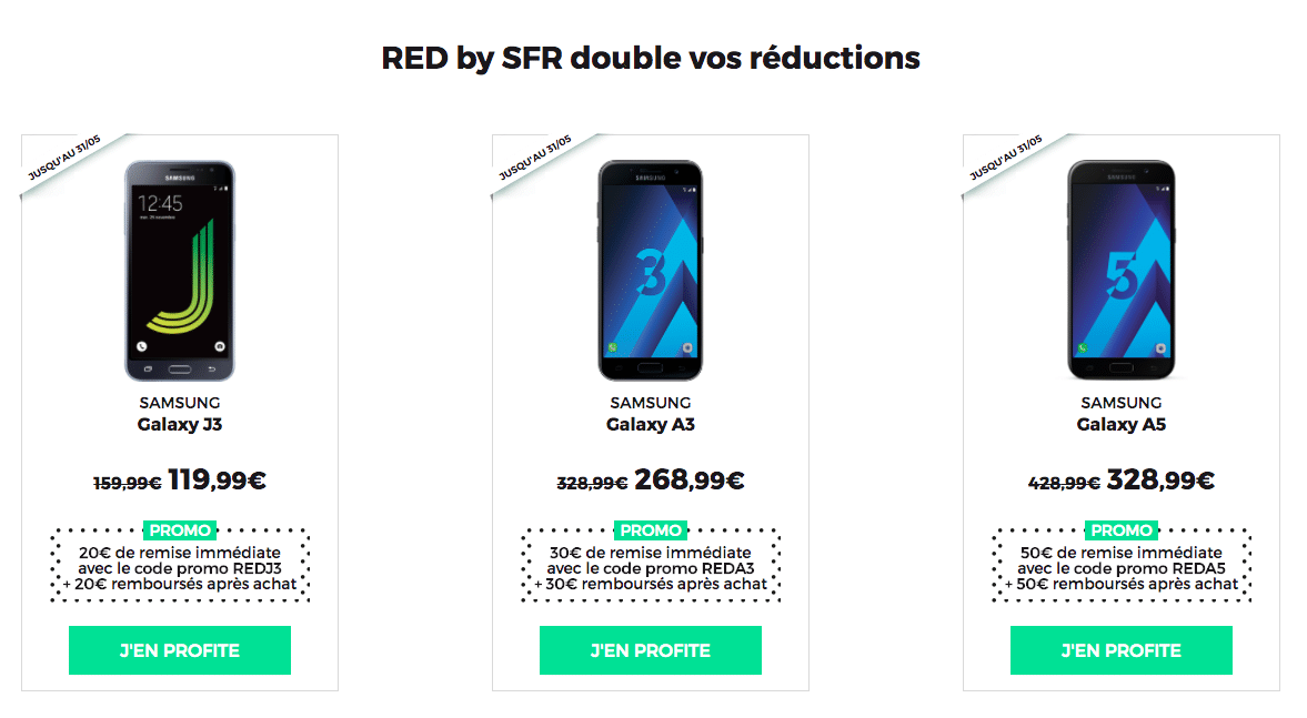 RED remise double