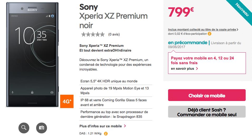 XZ Premium Sosh