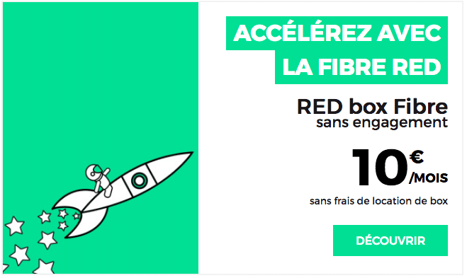 Box internet RED by SFR Fibre et ADSL