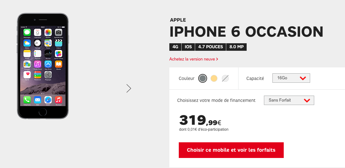 Iphone  Occasion  Euros
