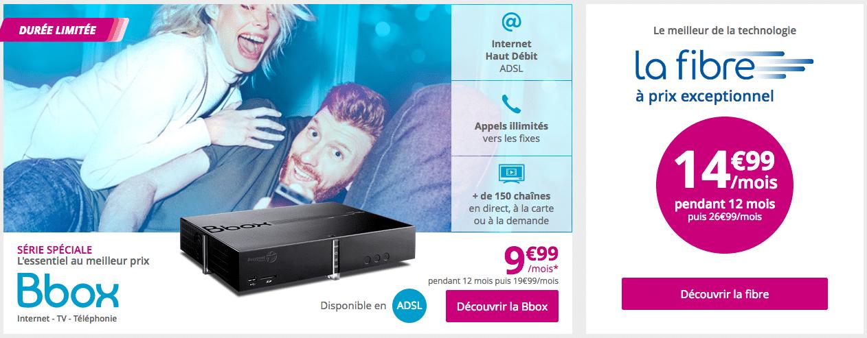 Offres internet Bbox Bouygues Télécom