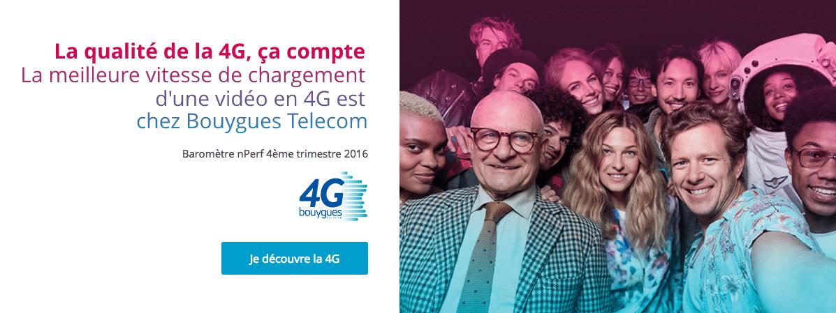 Reseau 4G Bouygues Télécom