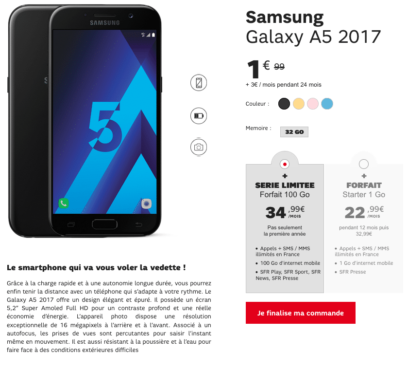 sfr Galaxy A5
