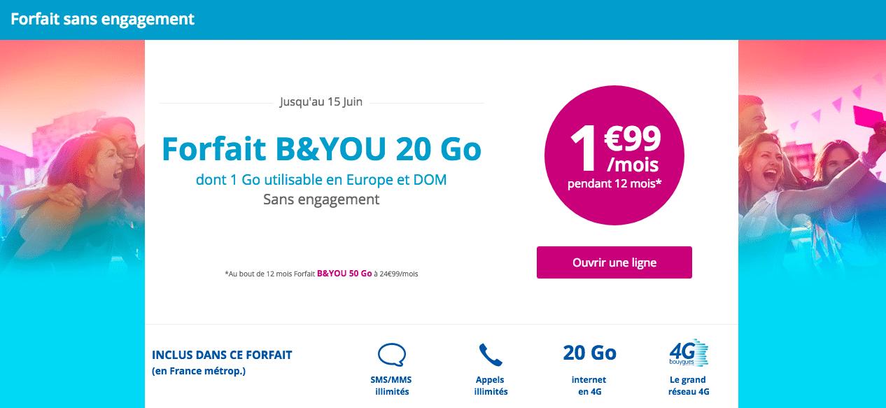 B&You 2 euros