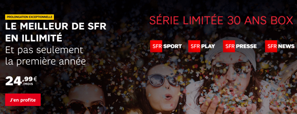 30 ans SFR box internet