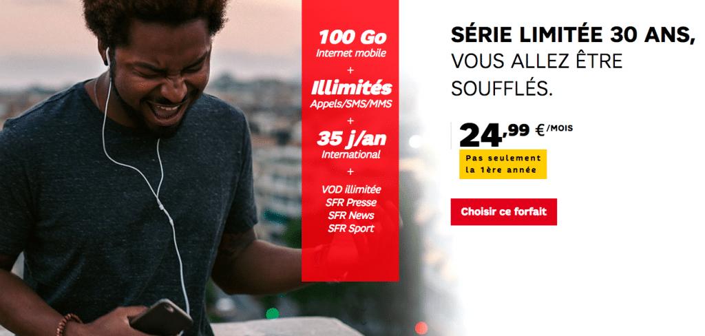 30 ans SFR offre mobile
