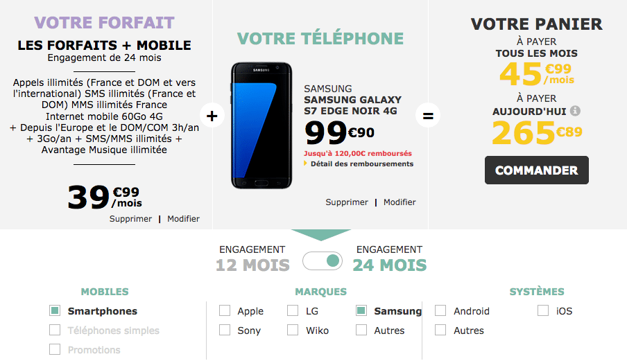 La Poste Mobile commande galaxy