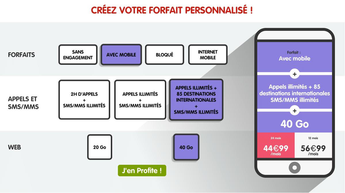 forfait NRJ Mobile