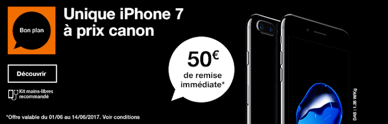 50 euros sur l'iPhone 7