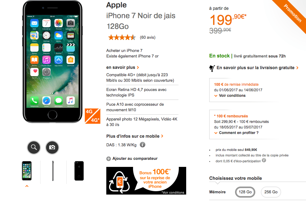 l'iPhone 7 chez Orange