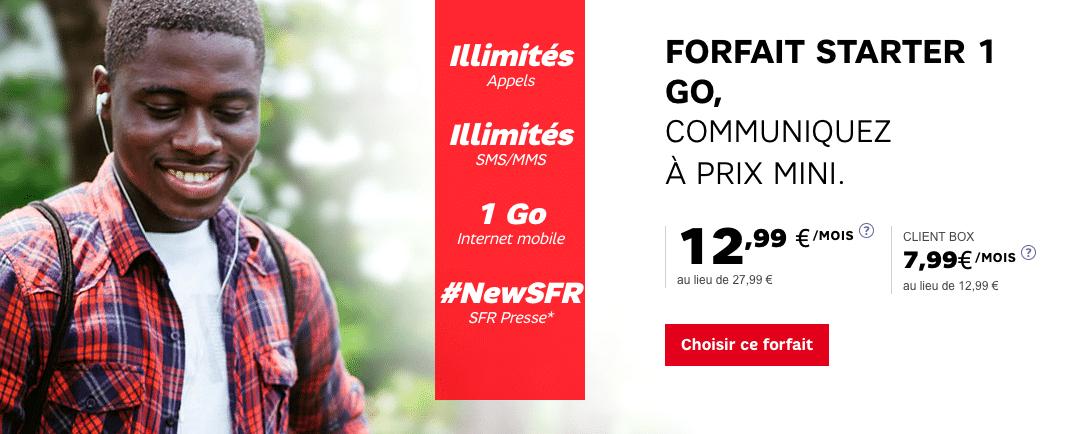 forfaits 1 Go SFR