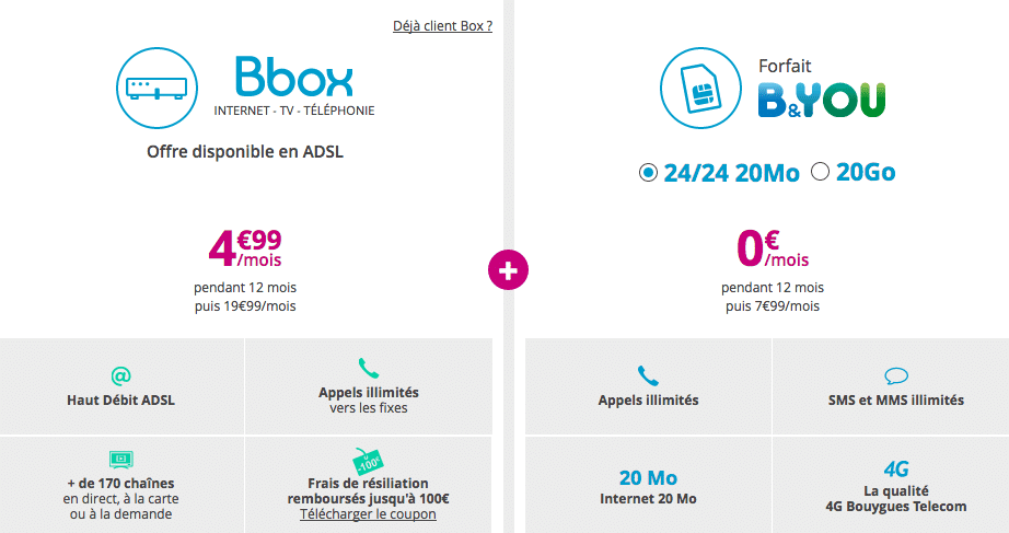 bouygues offre box mobile