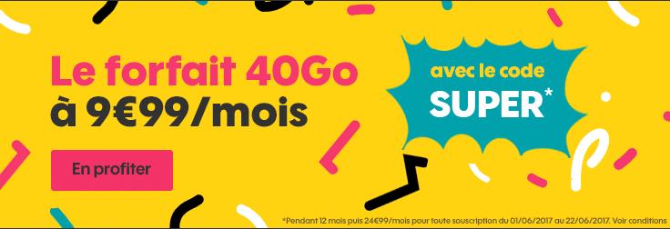 Forfait mobile 40 Go de Sosh