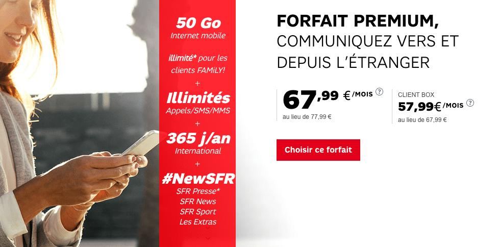 forfaits premium SFR