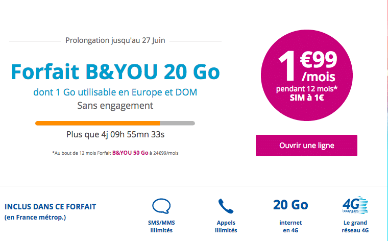 free bouygues 20 Go