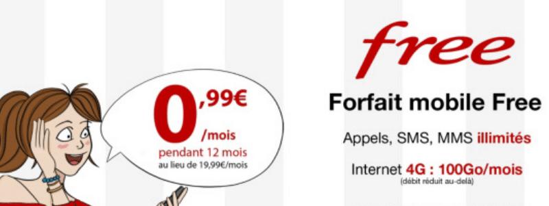 free mobile prolongation jusqu 39 au 30 juillet du forfait 4g 100 go 0 99