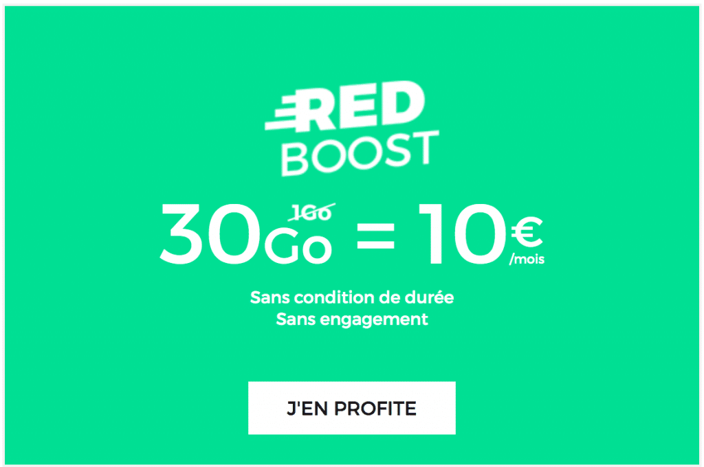 Forfait 30 Go de RED by SFR