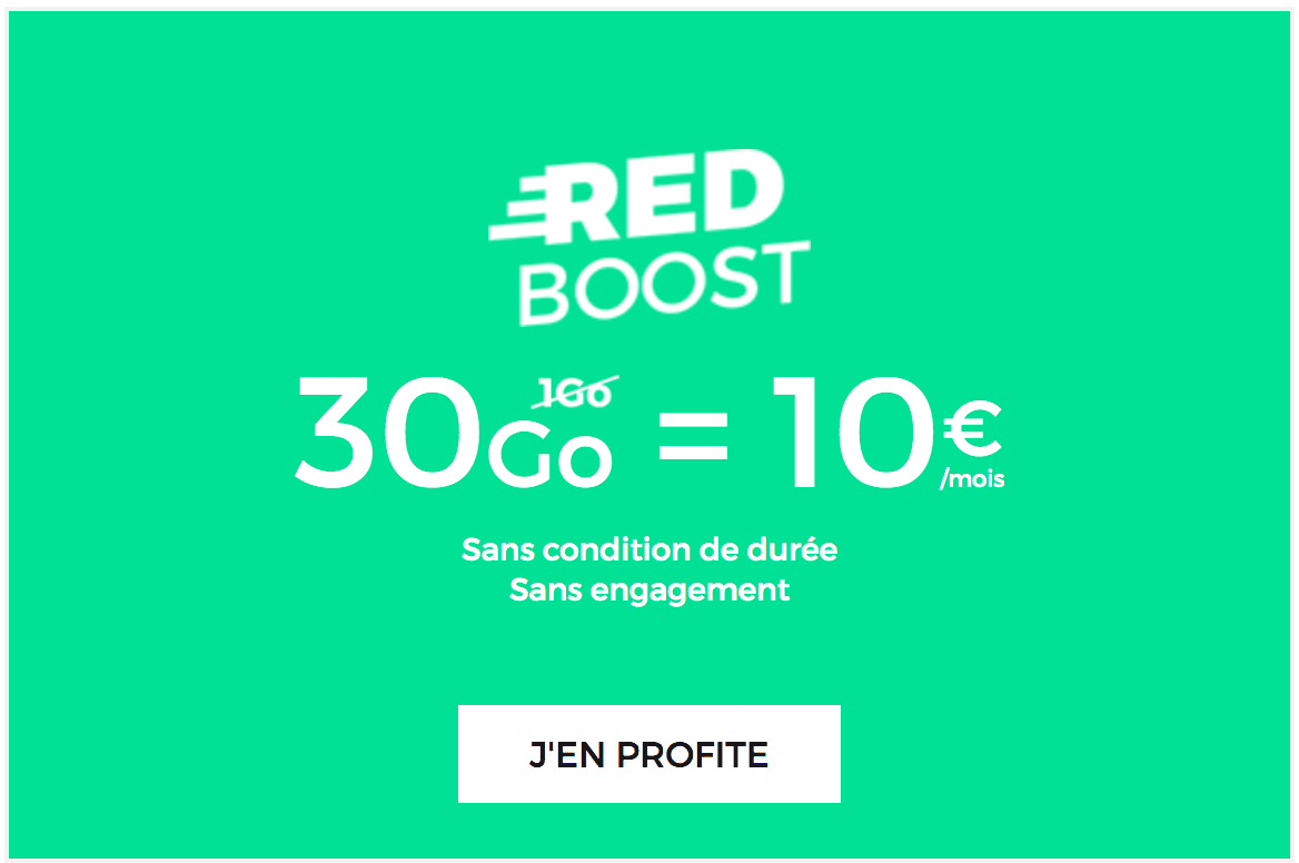Forfait RED by SFR 30 GO