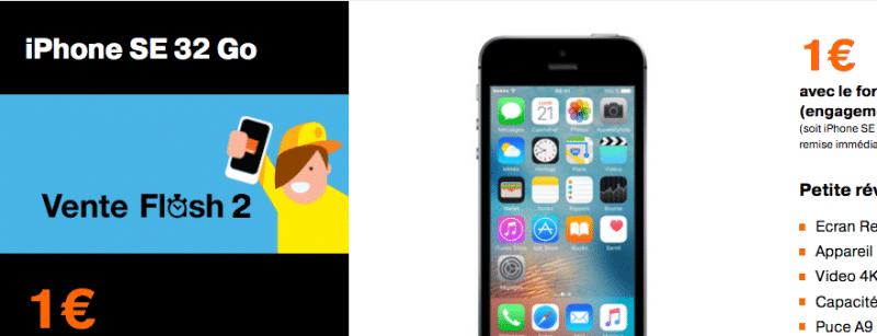 orange mobile propose l 39 iphone se en vente flash pendant 3 jours petit prix. Black Bedroom Furniture Sets. Home Design Ideas