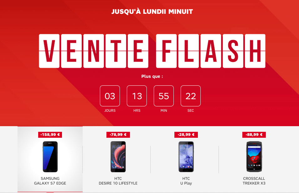 vente flash sfr smartphones