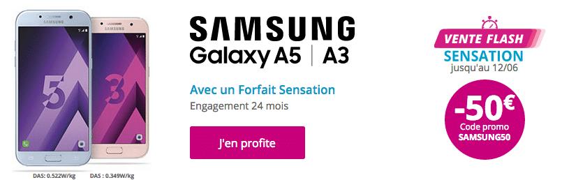 Galaxy A3 et A5 Bouygues Télécom