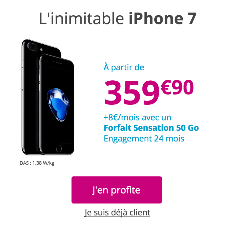 rendez-vous Apple iPhone 7