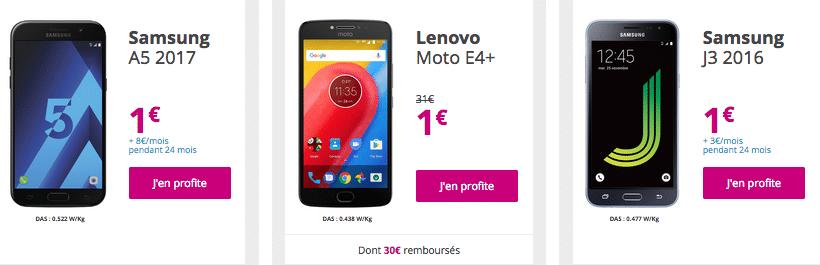 Bouygues telecom A5 moto J3