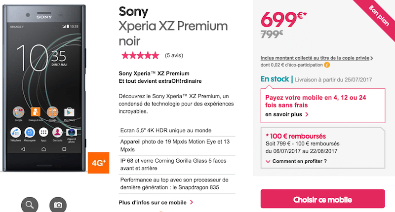 100€ XZ Premium