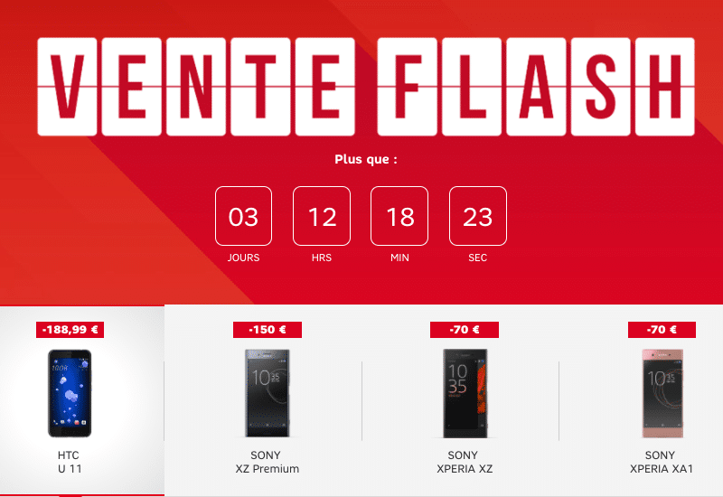 sfr vente flash jusqu 39 190 de remise sur des smartphones htc et sony. Black Bedroom Furniture Sets. Home Design Ideas